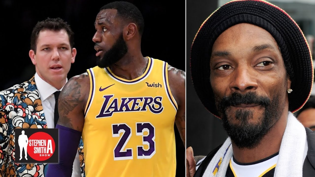 new styles fc8c0 c9829 Snoop Dogg: Luke Walton is too young to coach LeBron | Stephen A. Smith Show