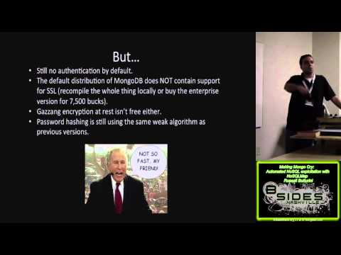 200 making mongo cry automated nosql exploitation with nosqlmap russell butturini