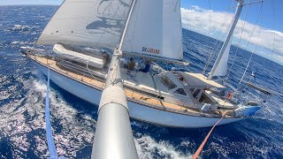 [75 MIN] SLOW TV ASMR OCEAN SOUND- Relax while sailing on the ocean!  Sailing Vessel Delos