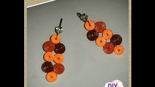 quilling paper earrings DIY craft ideas tutorial / URADI SAM