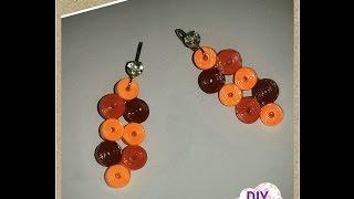 quilling paper earrings DIY craft ideas tutorial / URADI SAM
