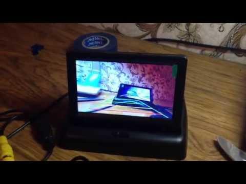 Подключение монитора и камеры заднего вида (быстрое подключение, проверка)