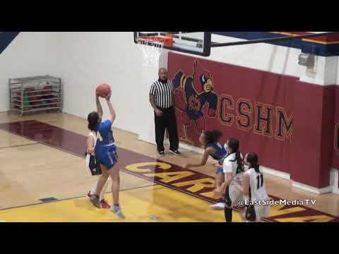 Cantwell Sacred Heart of Mary  vs Bishop Amat Girls Basketball  (Full Game spring 2021)