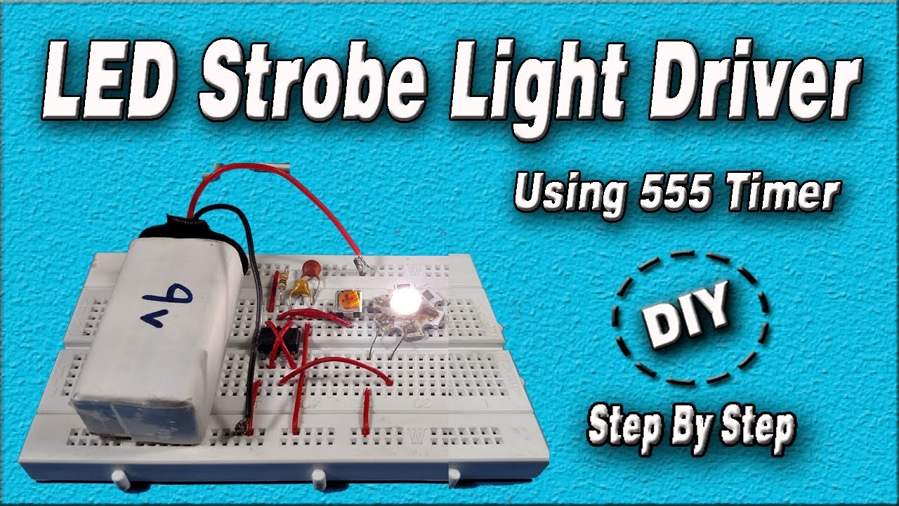 Led Strobe Light Circuit Using 555 Timer Diy How To Homemade 12v Flasher Step By