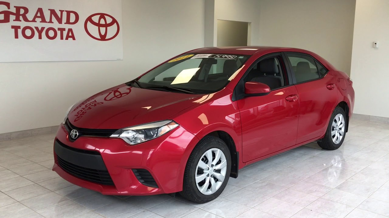 Red 2014 toyota corolla le review null grand toyota