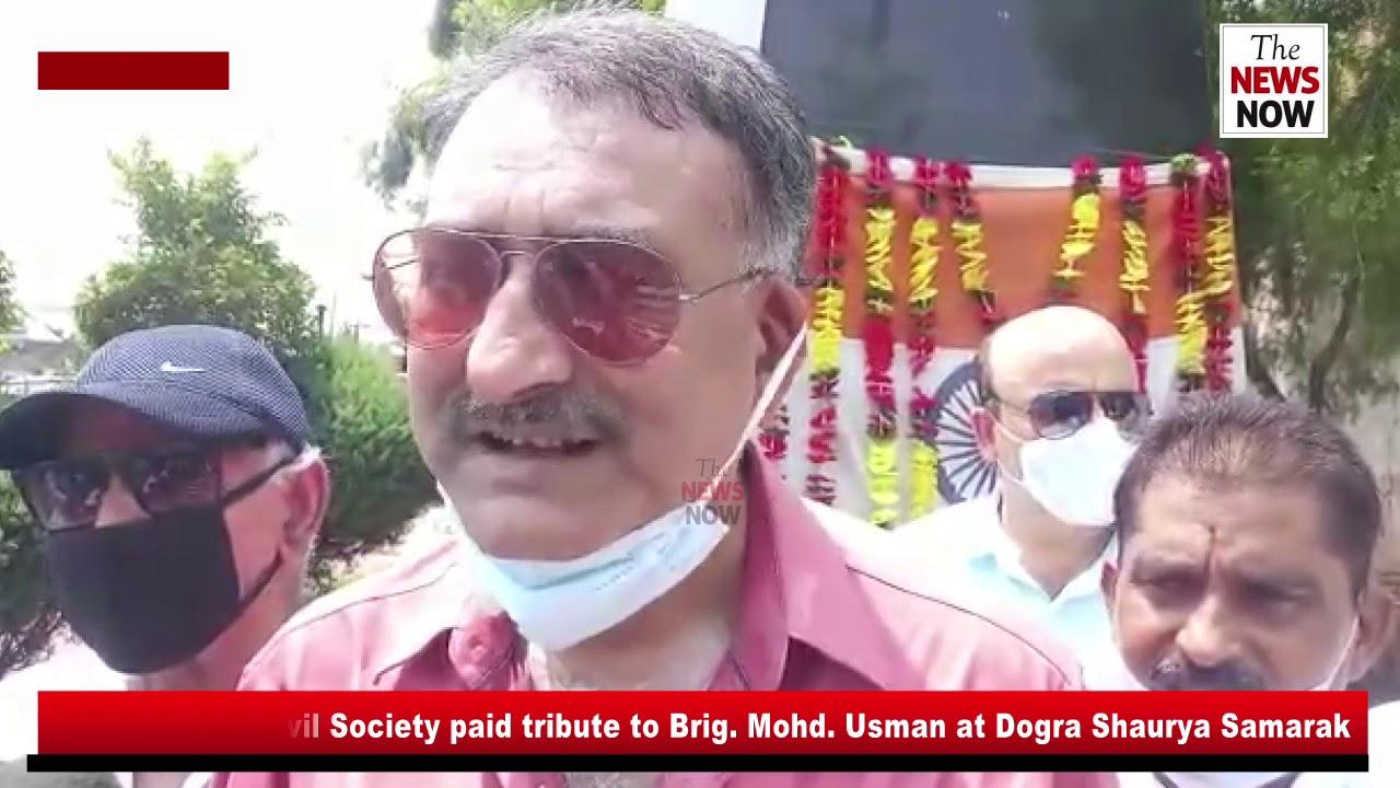 Members of Civil Society paid tribute to Brig  Mohd  Usman at Dogra Shaurya Samarak