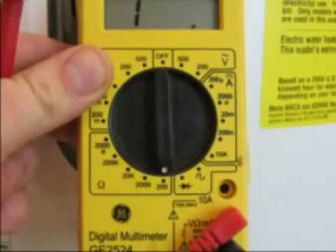 WATER HEATER ELEMENT how to TEST YouTube