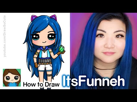 How to Draw ItsFunneh | Famous YouTuber