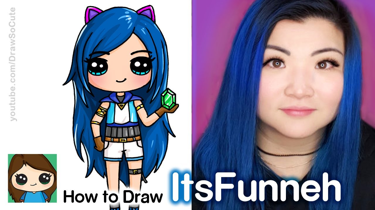 How To Draw Itsfunneh Famous Youtuber Youtube