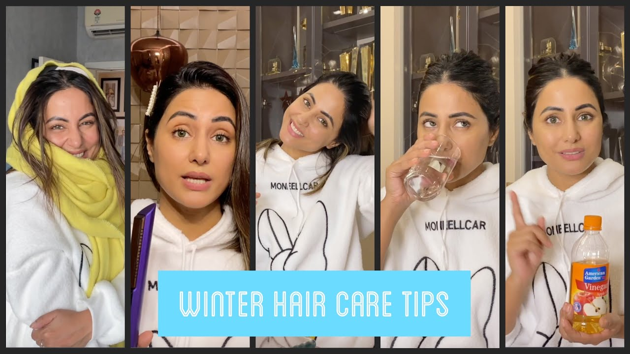 What I do to keep my hair healthy during Winters | #WinterHairCare | Hina Khan