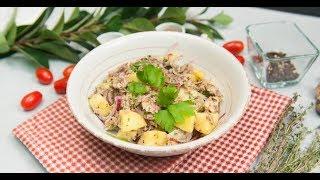 Салат из картофеля со скумбрией | Ужин? Не проблема!