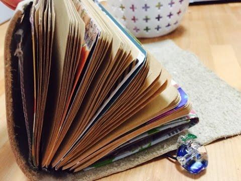 手作りトラベラーズノート part1 DIY Midori Traveler's Notebook