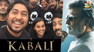 Nivin Pauly, Vineeth Sreenivasan at Kabali FDFS with Wife | Celebrities Response