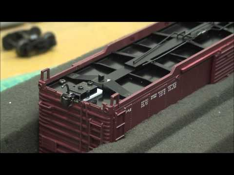 3 Rail (O scale) Freight Car Conversion to Kadee Couplers