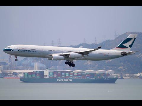A340 Cockpit Flight Hong Kong - Taipei