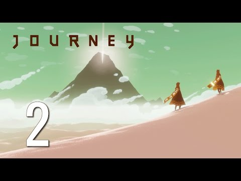 Ep 2 - A companion emerges (Let's play Journey blind gameplay)