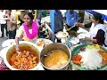 People Enjoying Roadside Unlimited Meals | Veg Meals / Chicken Meals @ 50 Rs Only | Best Street Food