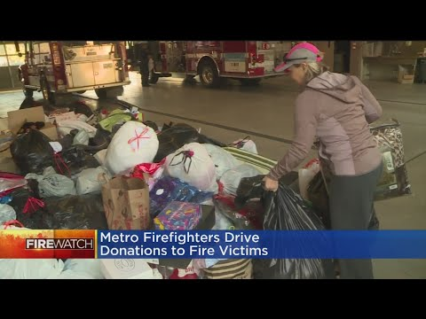 Sacramento Metro Firefighters Gathering Donations For Fire Victims