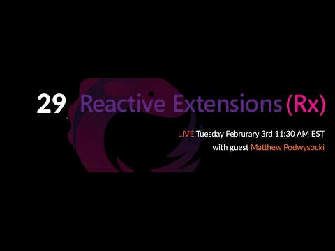 The Web Platform Podcast 29: Reactive Extensions (Rx) in Practice