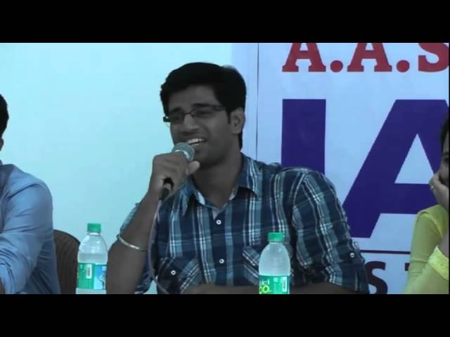 How to study for UPSC CSE by UPSC IAS Topper Prateek Thube (2012 AIR 248) at A A SHAHs IAS