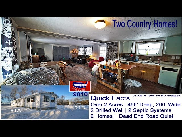 Maine Real Estate | Vacation, 2 Hodgdon ME  Retirement Homes For Sale MOOERS REALTY #9010