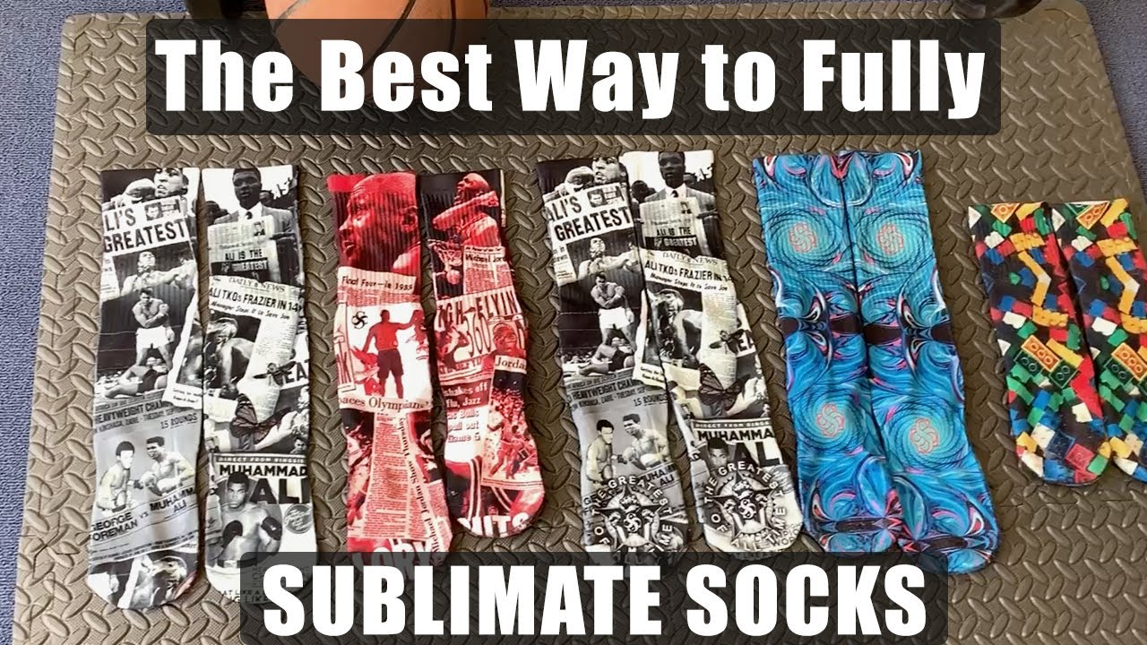 The Best Way to Fully SUBLIMATE SOCKS
