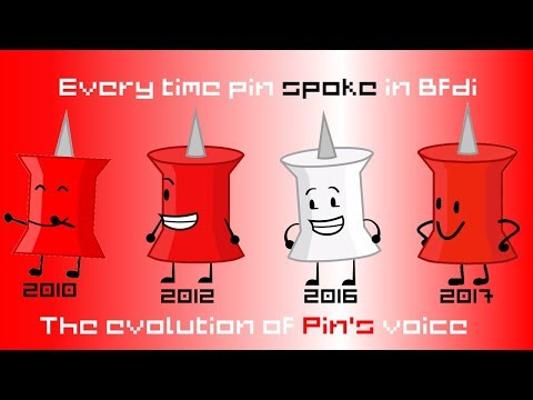 Every time Pin spoke in bfdi Evolution of Pin's voice