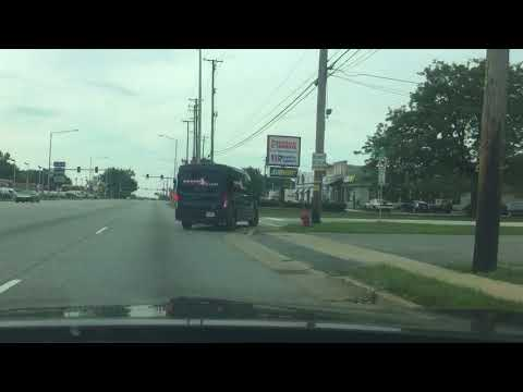 Driving in Oak Lawn , then Alsip Illinois into a Gas Station