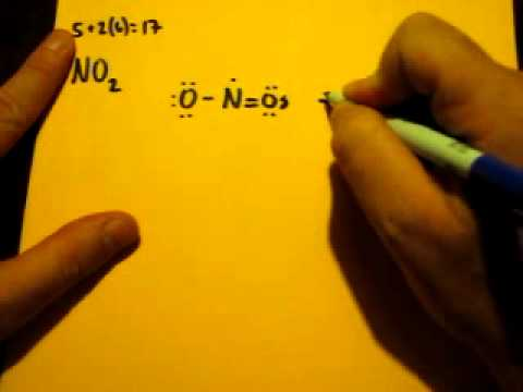 Lewis Dot Structure Of No2 Nitrogen Dioxide Youtube