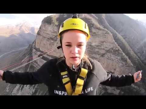 Прыжки с веревкой на Кавказе 250 м / EAAT Роупджампинг / май 2018
