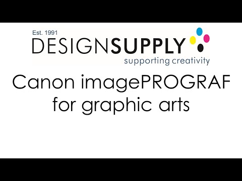 Canon imagePROGRAF for Graphic Arts - Design Supply
