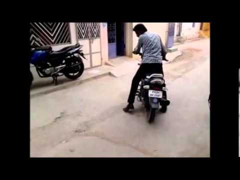 Funniest Bike Stunt By Indian College Student Travel Video