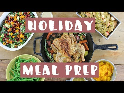 Heathy Meal Prep for the Holidays! EASY MEAL PREP WITH ME