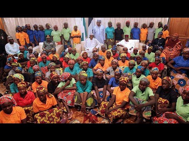 Президент Нигерии встретился с освобождёнными пленницами