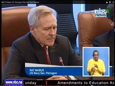 NBC TV News: U.S. Secretary of the Navy Visits Namibia