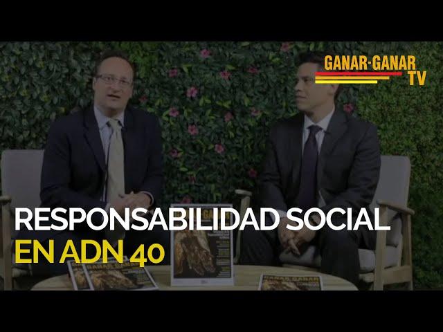 Segmento de Responsabilidad Social  de las empresas mineras en ADN40 en transmisión nacional.