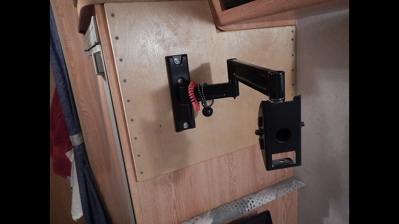 RV DIY Rock Solid TV Mount - YouTube