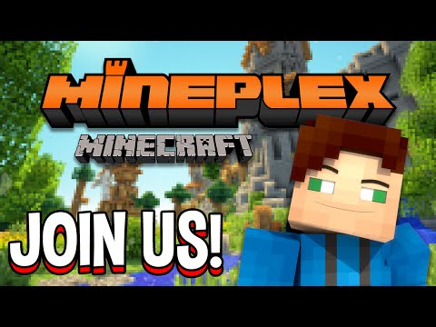 Minecraft Mineplex Skywars PvP, Arcade Games, Survival Games, and More! Join Us! (Day 14)