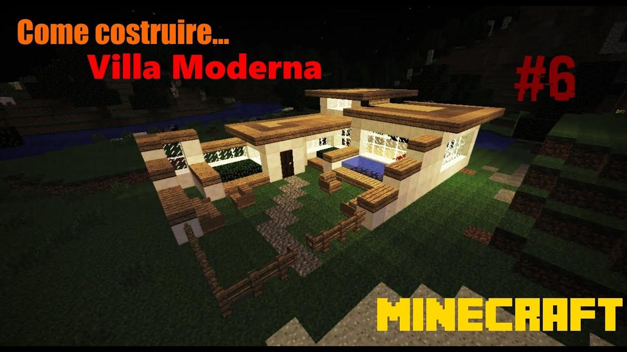 minecraft ita come costruire una villa moderna modern