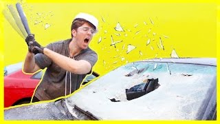 Download DESTROYING A CAR! *NOT CLICKBAIT* Mp3 and Videos