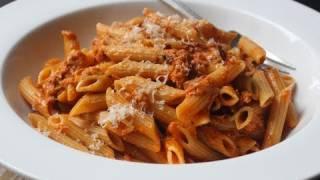 Creamy Tomato Tuna Pasta - Easy Tuna Penne Pasta Recipe