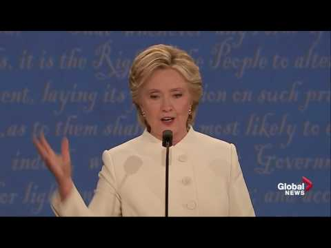 Presidential debate: Trump calls Clinton 'such a nasty woman'