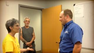Woman surprises dispatcher who helped save her life 1 year later