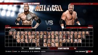 WWE 2K15 Next Gen Gameplay - The Rock vs Triple H | Last Man Standing Match