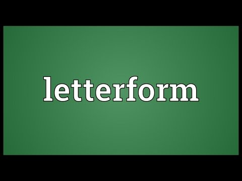 Letterform Meaning