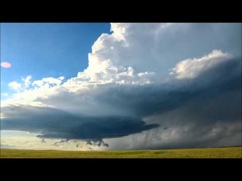 Time-lapse of June 17, 2015 Supercell Southeast of Rapid City, SD