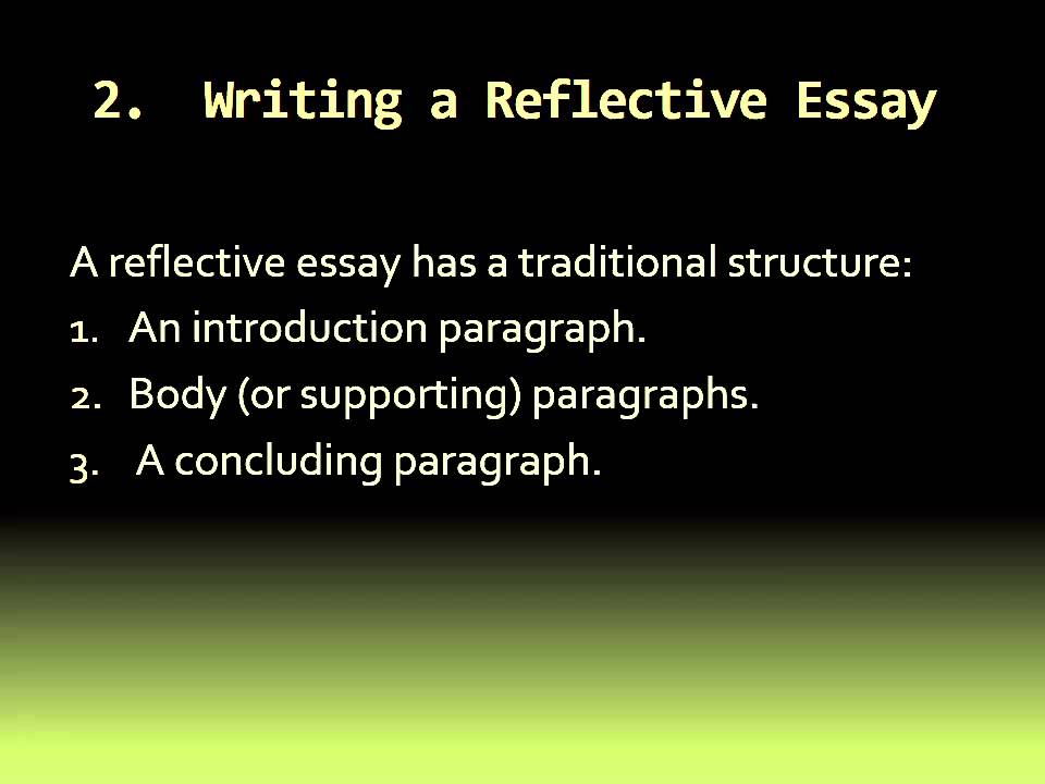 introductory paragraph for reflective essay