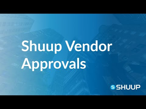Shuup Vendor and Products Approval