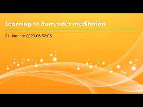 Learning To Surrender Meditation By Amy Simpson Breathe Believe Achieve
