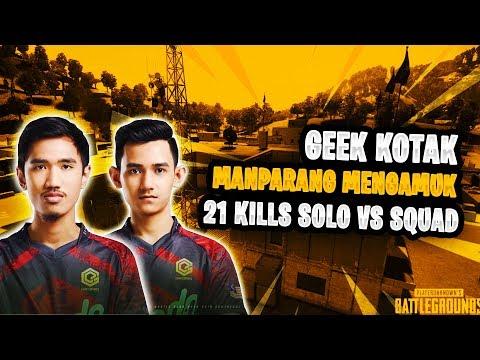 21 KILLS!! Geek Kotak! ManParang Mengamuk | PUBG Mobile Malaysia